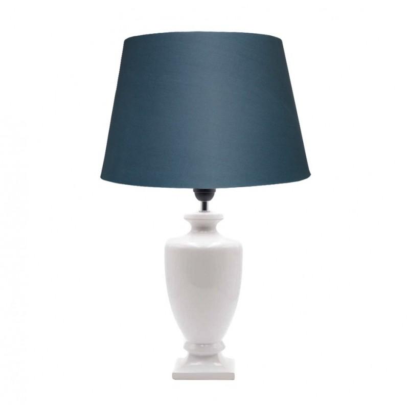 LAMPARA PQ CERAMICA BLANCA 14X14X36