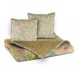 PLAID MANTA PIE DE CAMA FLORAL 160X66