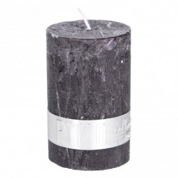 RUSTIC CHARCOAL BLACK PILLAR CANDLE