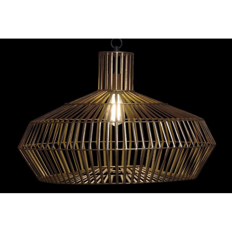 LAMPARA TECHO METAL 60X60X135 DORADO