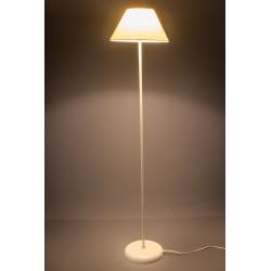 LAMPARA DE PIE METAL MARFIL 30X140 PANTALLA LINO