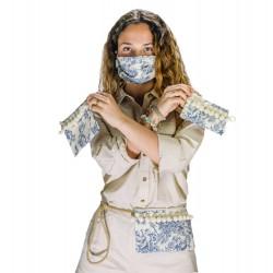 Pon-Pon Collection: elige entre Bandolera, Bolso de mano/Neceser ó Funda de mascarilla/gafas y Mascarilla lavable coordinada.