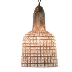 LAMPARA DE TECHO GRANDE COLGANTE PIEDRAS CRISTAL FORMA PERA 59X31