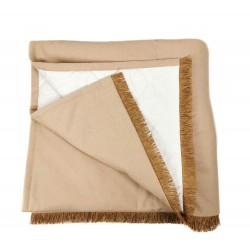 Plaid Manta acolchada lisa ocre pie de cama 90-105 y 135-150 | Liberty Camel