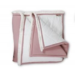 Plaid Manta acolchada lisa Rosa palo de cama 90-105 y 135-150 | Liberty Nude