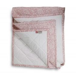 Plaid Manta acolchada Flores Rosa palo pie de cama 90-105 y 135-150 | Liberty Nude