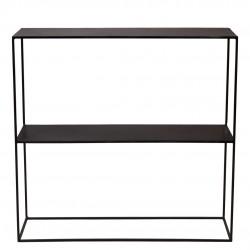 Consola medern metal negro 1 estante 80x22x81