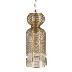 Lámpara Techo cilindro metal dorado 26x26x66, bombilla incluida