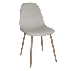 Silla tapizada gris marengo patas metálicas simil madera 45x87x52