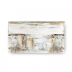 CUADRO IMPRESION ABSTRACTO BEIGE-GRISES 180X3.5X100