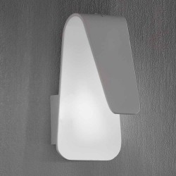 LAMPARA APLIQUE DE PARED LED BLANCO 9X14X18