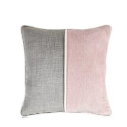 Funda cojín 50X50 Rosa Palo y Gris, sofá, cama dormitorio, sillón, salón | Pinky Grey
