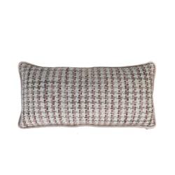 Funda cojín 60X30 Geométrico rosa gris, cama, sofá dormitorio, salón | Pinky Grey