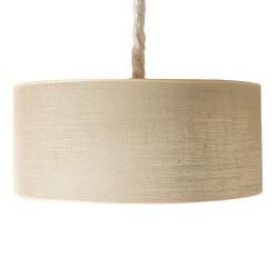 LAMPARA DE TECHO COLGANTE CILINDRO MARRON 60X25 CM