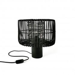 Lámpara de mesa Medula metal-madera Negra 30X43 CM