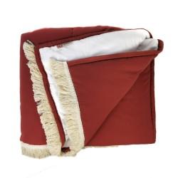 Plaid Manta acolchada lisa Rojo Vino pie de cama 135-150 (230x120 cm.) | Red Garden