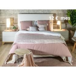 Fundas Cojín decorativo bordado Blanco y Rosa palo con Cremallera, Cama, Sofá | Liberty Nude