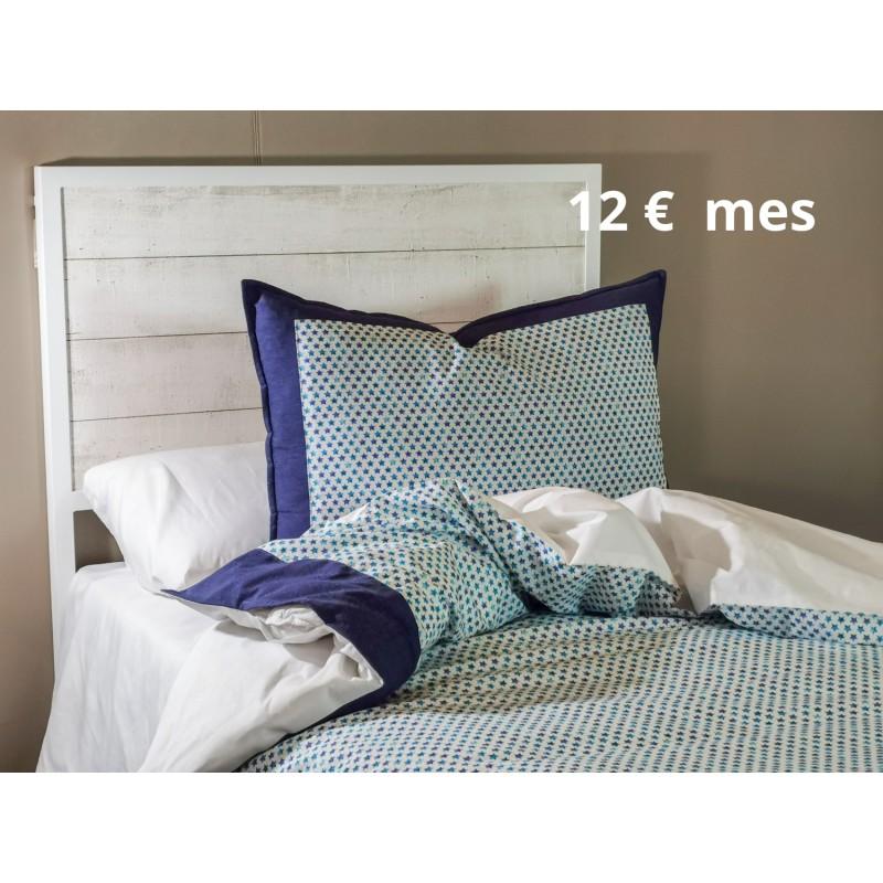 Funda cojín + Funda Nórdica Azul estrellas dormitorio, cama sofá, relleno no incluido   Blue Stars