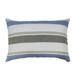 Funda Cojín rayas azul marrón 70x50, Cama, Sofá, Saylor Stripe
