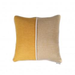 Funda cojín 50X50 Amarillo Ocre Espiga, sofá, cama sillón,butaca,dormitorio | Yellow Square