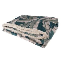 Plaid manta acolchada pie de cama 135-150 (230x135cm.), Forest