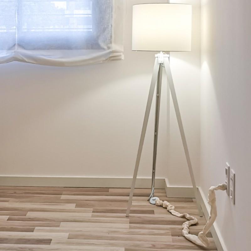 Cubre Cables decorativo tela arrugada 1,8 mtrs. para Lámparas, Televisión TV, Ordenador