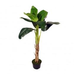 Planta artificial exterior 45x135 Bananero republic con maceta negra