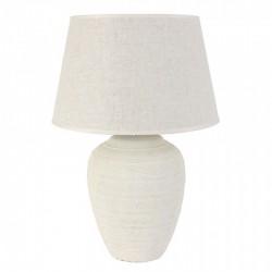 Lámpara mesa 49X59X40 cerámica blanca pantalla incluida