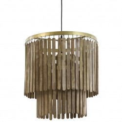 Lámpara Techo Gulag Madera Marrón Oscuro 45X43 cm