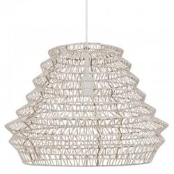 Lámpara Techo Flame Piel Natural 55X40 cm