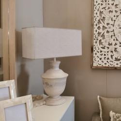 Lámpara Mesa madera maciza 50x27x27 gris claro decapada
