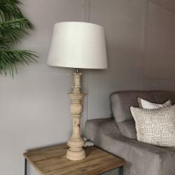 Lámpara mesa alta 17x79 madera maciza