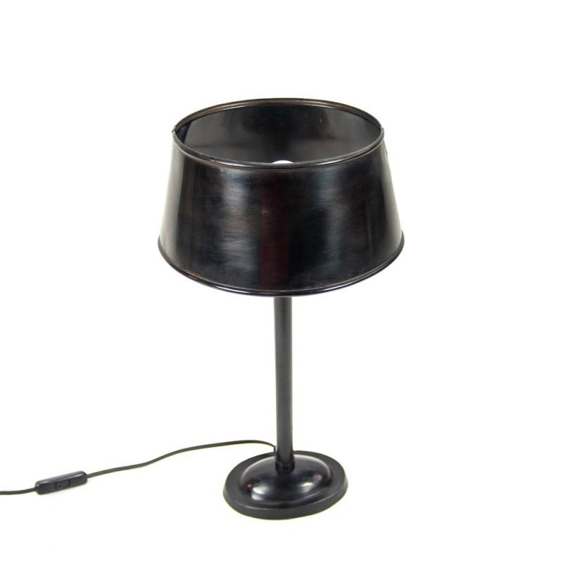 Lámpara de mesa negra de metal