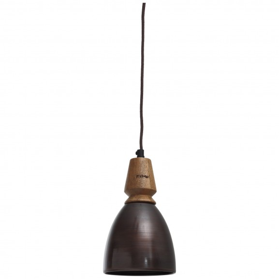 LAMPARA SUSPENSION METAL MADERA