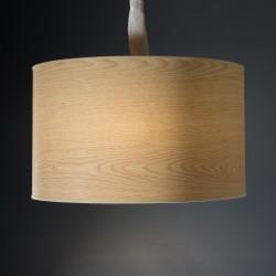 PANTALLA LAMPARA DE MESA REDONDA MADERA 50X30