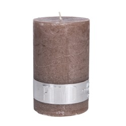 RUSTIC AMBIENT BROWN PILLAR CANDLE