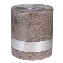 RUSTIC AMBIENT BROWN 3 WICK CANDLE