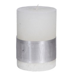 RUSTIC HOT WHITE PILLAR CANDLE