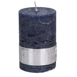 RUSTIC NIGHT BLUE PILLAR CANDLE