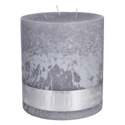 RUSTIC SUEDE GREY 3 WICK CANDLE