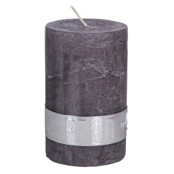 RUSTIC SWISH GREY PILLAR CANDLE
