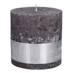 RUSTIC SWISH GREY BLOCK CANDLE