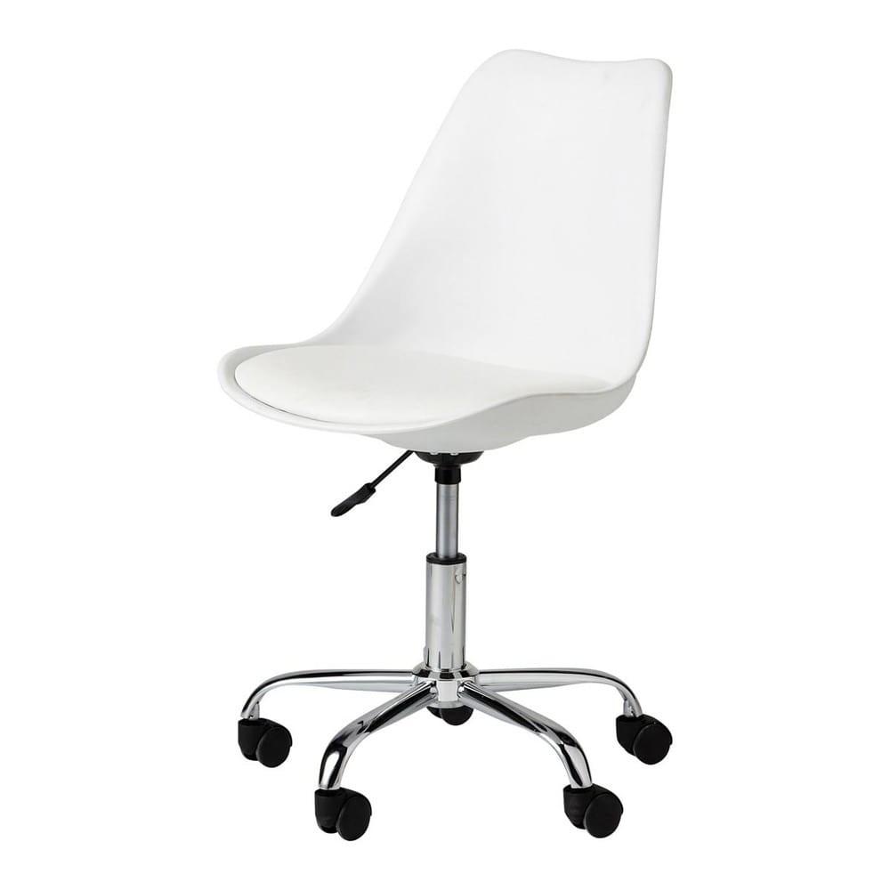 silla blanca escritorio sin ruedas